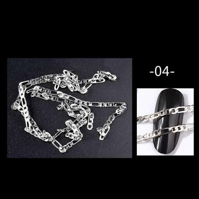 Nail Art Metal Chains 50cm - Silver2