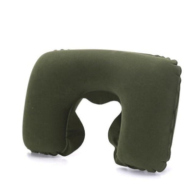 Air Cushion Neck Pillow - ArmyGreen / 26.5cm x 44cm