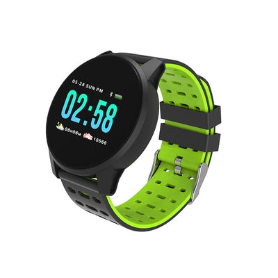 GPS Touch Screen Smart Watch - PU Green / 220mm