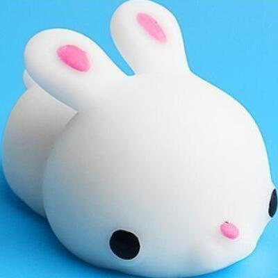 Mochi Squishy Anti-Stress Toy - White rabbit