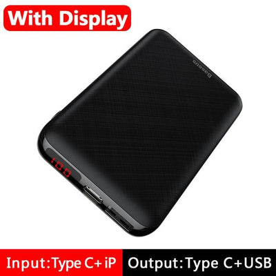 10000mAh Power Bank - LED Display Black