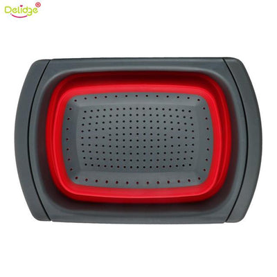 Progressive Collapsible Colander - red