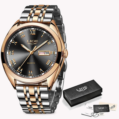 Women Watches - Rose Gold Black