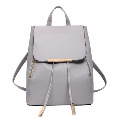 Women PU Leather Backpack - as pic show [365458] / 12 inches