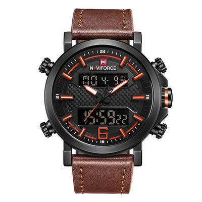Mens Watches - Black Orange