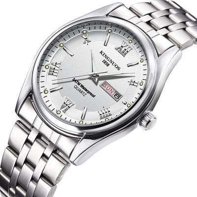 Mens Watches - Steel white
