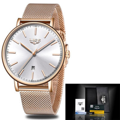 Women Watches - Rose Gold White [10]