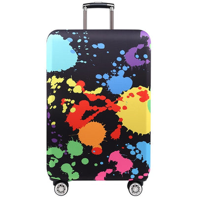 Varicolored Suitcase Protective Cover - Color Splash / S