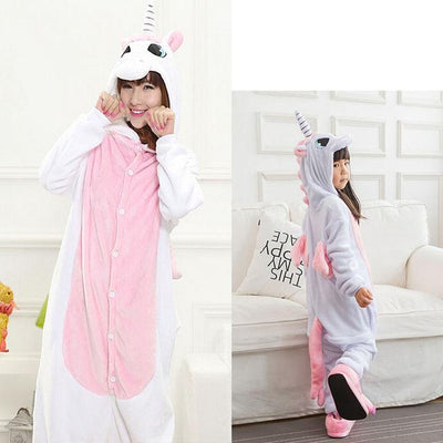 Animals Costume - Pink unicorn / S / Animal pajamas