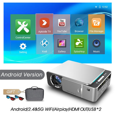Full HD LED Projector - Android-Silver