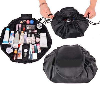 Drawstring Makeup Storage Bag - 571SYK-Black