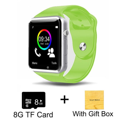 Kids Smart Phone Watch - Green with 8G Card