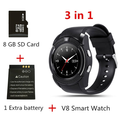Touch Screen Smart Watch - 3 in 1 black