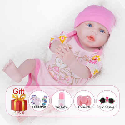 Silicone Reborn Baby Dolls - With hair Girl body1