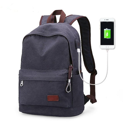 Backpacks for Men - Navy Blue Metal / 15 Inches