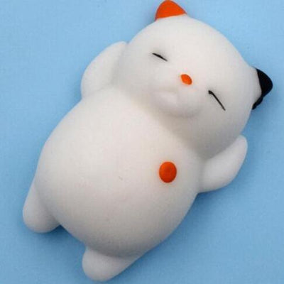 Mochi Squishy Anti-Stress Toy - Red Cat