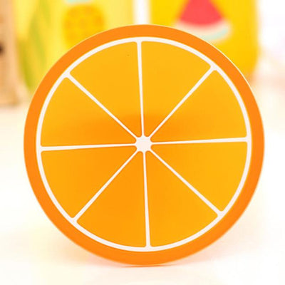Fruit Design Coaster - Orange