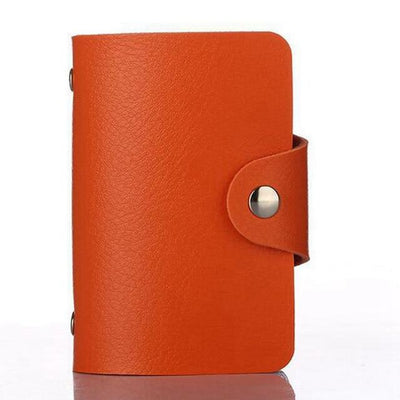 PU Leather Card Holder - Orange