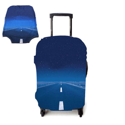 Varicolored Suitcase Protective Cover - Never Ending / S