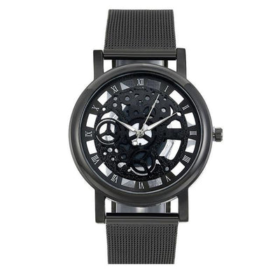 Men's Skeleton Watch - Black