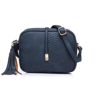 leather crossbody bag - Blue