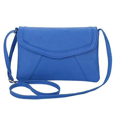 Vintage Leather Crossbody Bags - Blue
