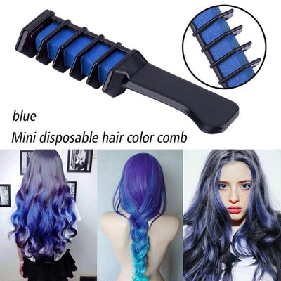 Colorful Hair Dye Comb - Blue