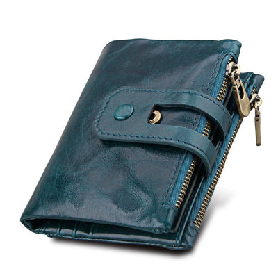 Leather Wallets for Women - Blue