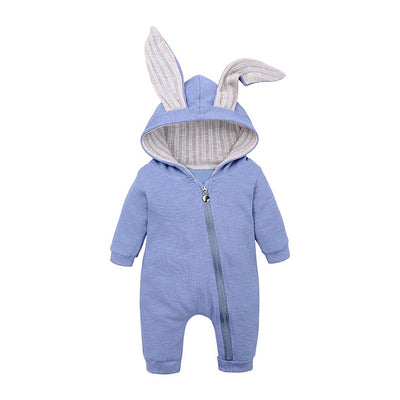 Bunny Rompers For Baby - Blue / 3M