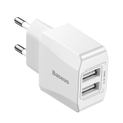 Dual USB Charger Adapter - White / EU