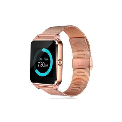 LED Touch Screen Bluetooth Smart Watch - Gold