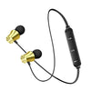 Bluetooth Neckband Earphones - Gold