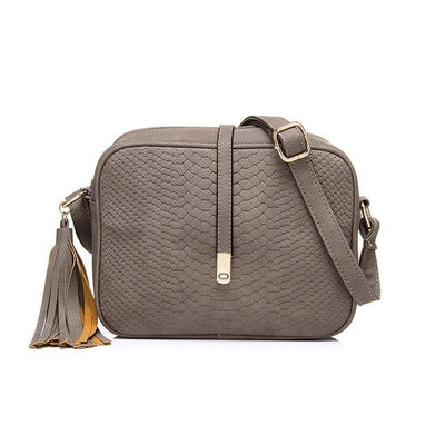 leather crossbody bag - Gray