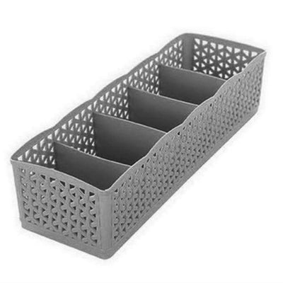 5 Grids Storage Boxes - Gray