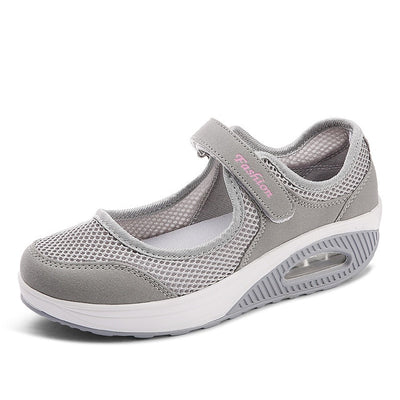 Women Flat Shoes - Gray / 5
