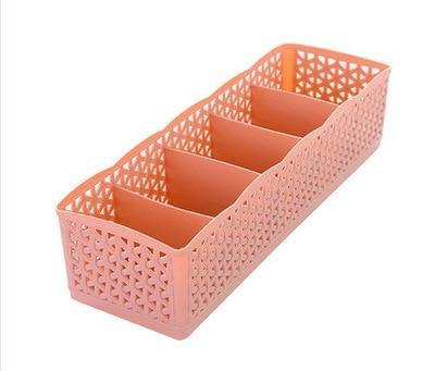 5 Grids Storage Boxes - Pink