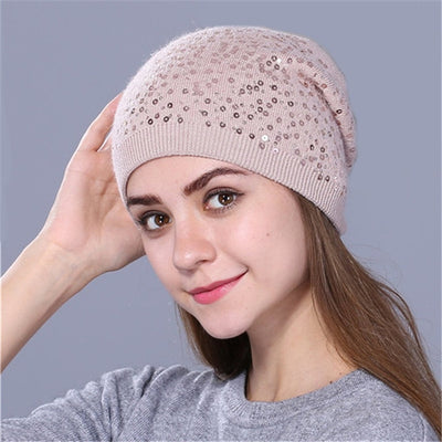 Knitted Hat for Women - Pink