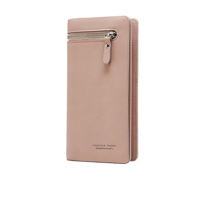Leather Wallet for Women - Pink
