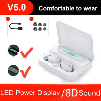 Earbuds - White with Display