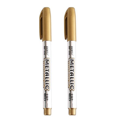 Metal Waterproof Paint Marker Pen - 2 gold