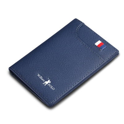 Mens Slim Leather Wallet - blue
