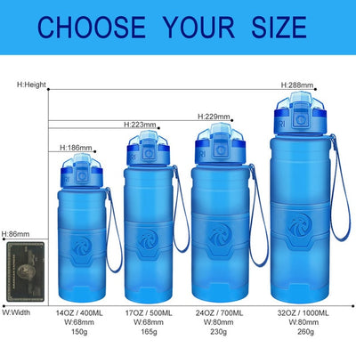 Plastic Water Bottles - 400ml / blue
