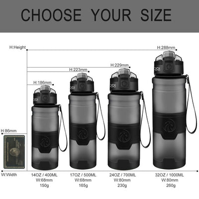 Plastic Water Bottles - 400ml / grey