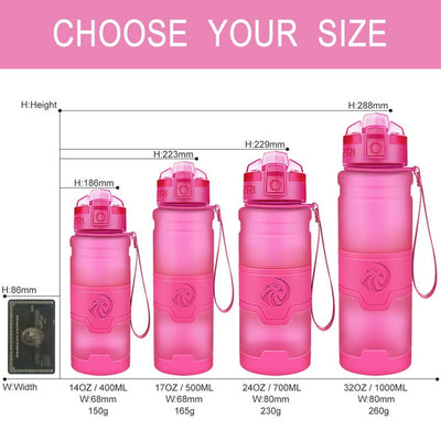 Plastic Water Bottles - 400ml / pink
