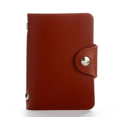 PU Leather Card Holder - Maroon