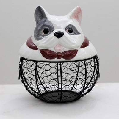 Ceramic Egg Holder - Bull Dog