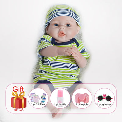 Silicone Reborn Baby Dolls - With hair boy body1