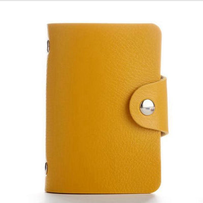 PU Leather Card Holder - Yellow