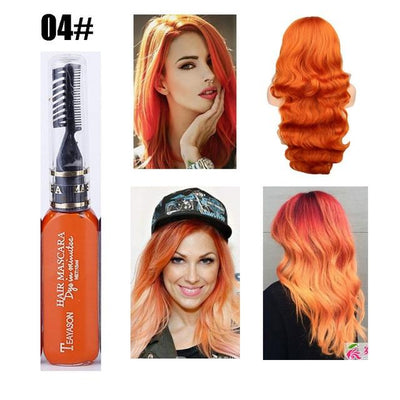 Long Lasting Hair Dye - Orange