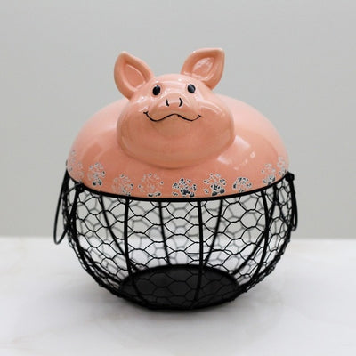Ceramic Egg Holder - Pig